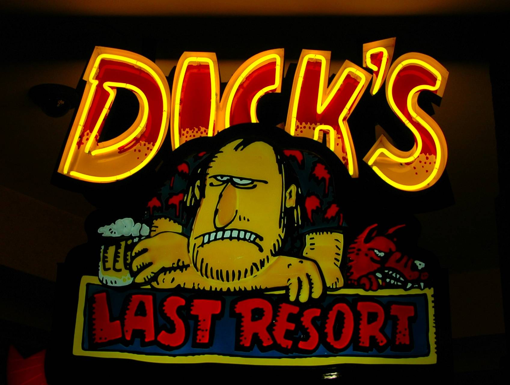 Dicks Last Resort dinner show.