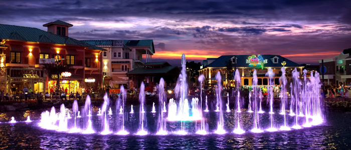Fountain Show At The Island in Pigeon Forge