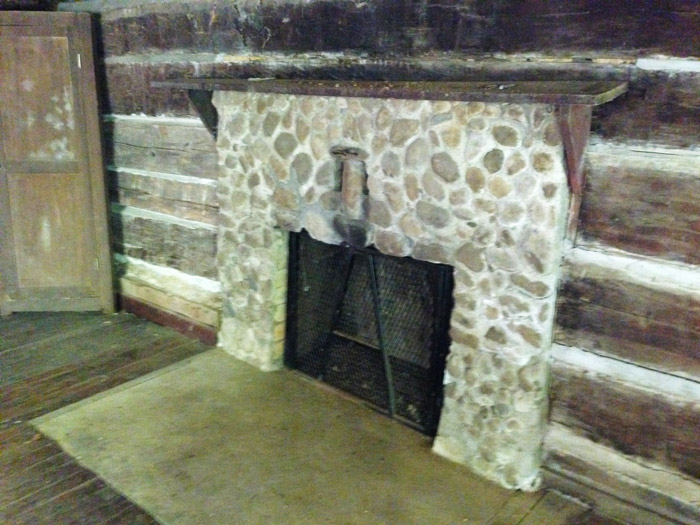 Fireplace in Historic Avent Cabin in the Smokies