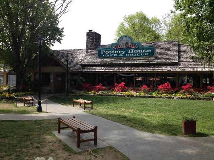 Grab lunch at Old Mill Pottery Cafe and Grille
