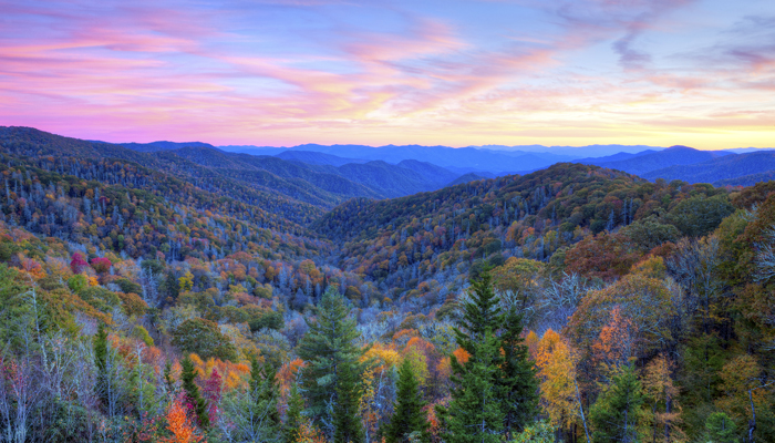 Peak Fall Smoky Mountains