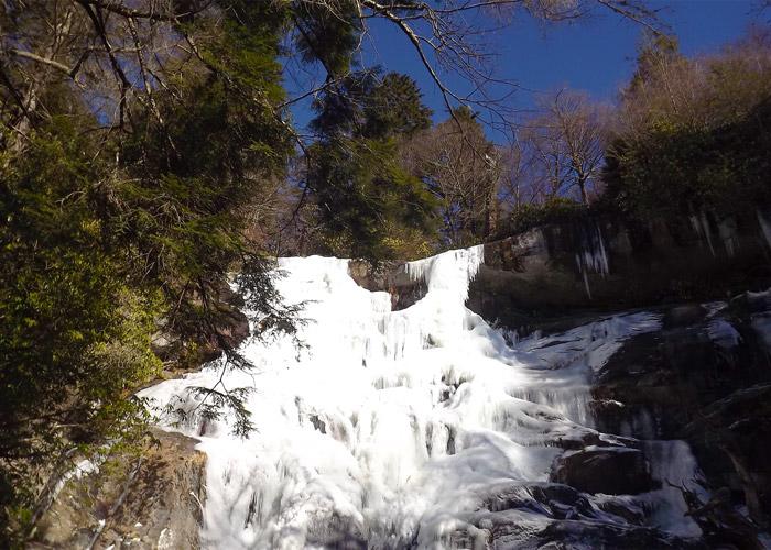 Frozen Ramsey Cascades Waterfall