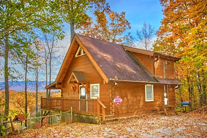 Cabin in the Smokies During Fall