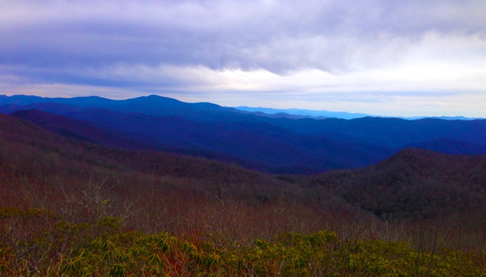 View From Rocky Top on the Appalachian Trail