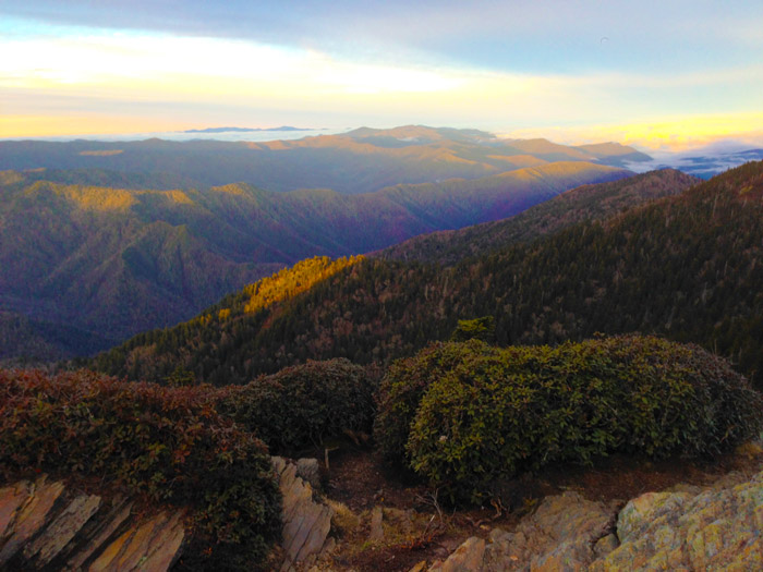 View From Mt. LeConte Sunrise
