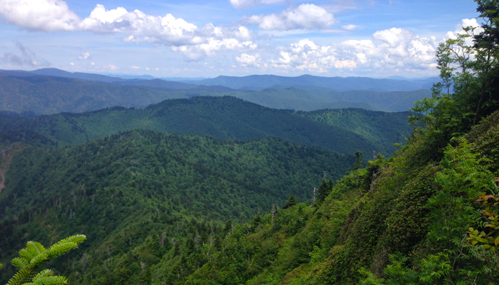 View From The Jump Off Smoky Mountains