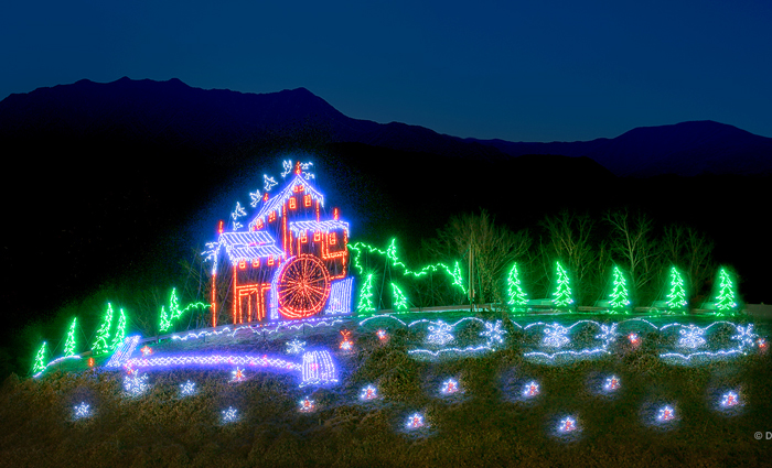 Winterfest Light Display in Pigeon Forge