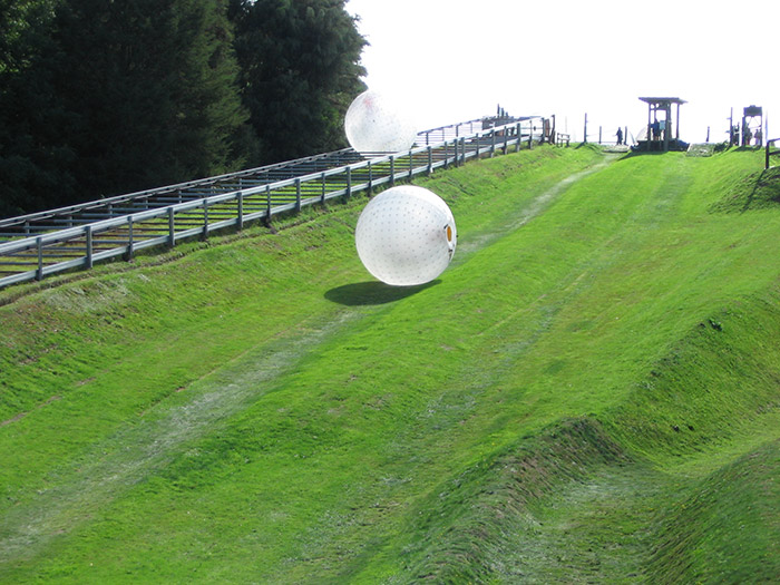 Zorbing in the Smoky Mountains