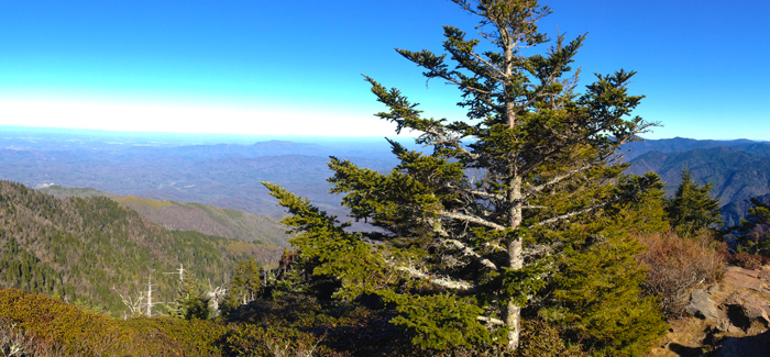 View Of Pigeon Forge From Mt. LeConte