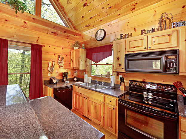 Cabin Kitchen For Pigeon Forge Vacations on A Budget