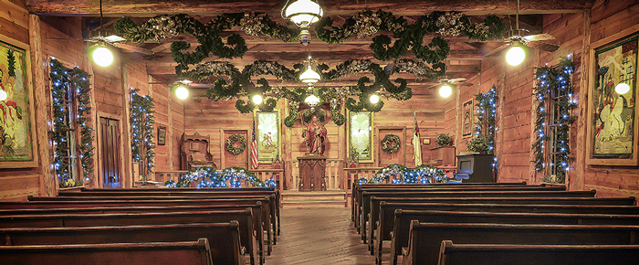 Chapel At Dollywood During the Holidays