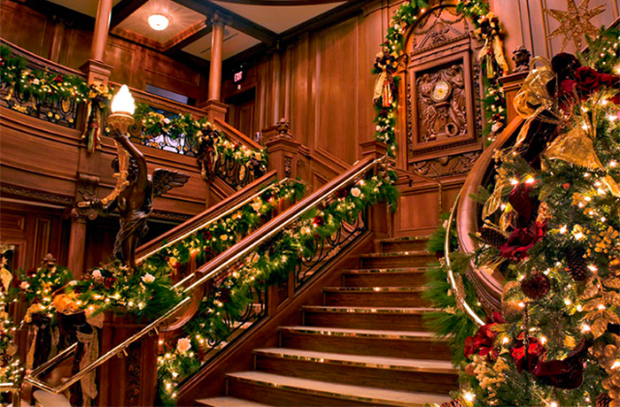 The Titanic Museum During Christmas