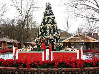 One of the many Dollywood Pigeon Forge Christmas displays. See millions of lights and nightly Christmas parade.