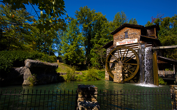 Old Mill in Dollywood in Pigeon Forge, TN