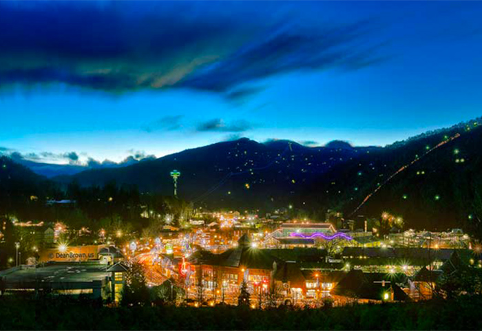 Nighttime in Downtown Gatlinburg