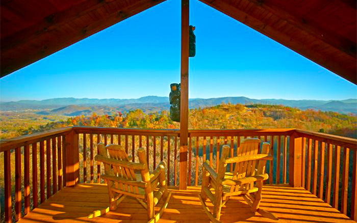 Fall View From Pigeon Forge Cabin Rental