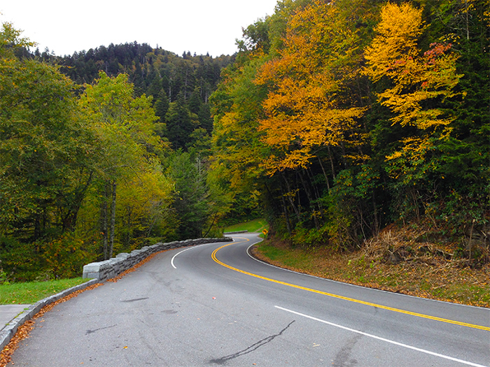 The Scenic Newfound Gap Road in Fall