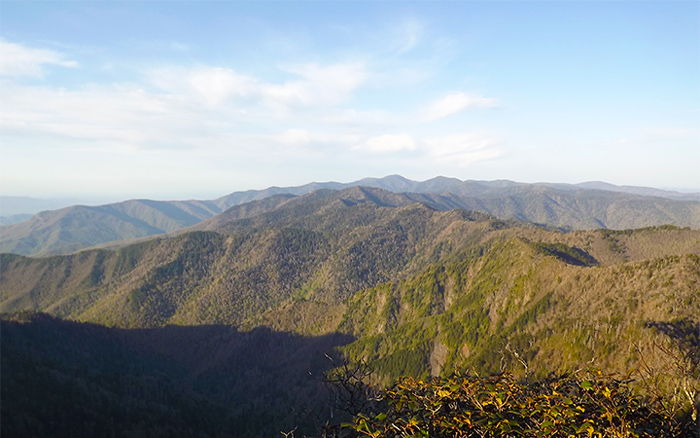 View From the Jump Off in the Great Smoky Mountains National Park