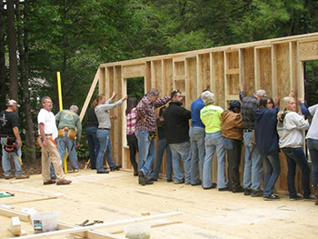 Walls going up on Blount Habitat For Humanity Harley House.