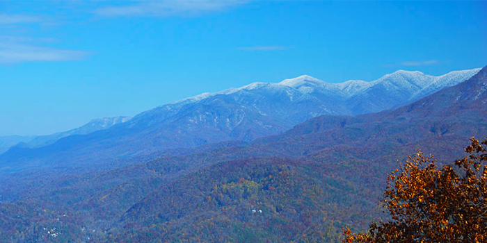 Snow-Capped Peaks in the Smoky Mountains