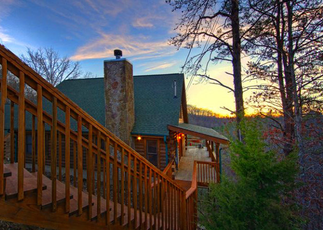 Pigeon Forge Cabin in January