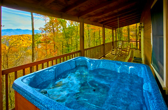 Pigeon Forge Cabin With A Hot Tub and A View