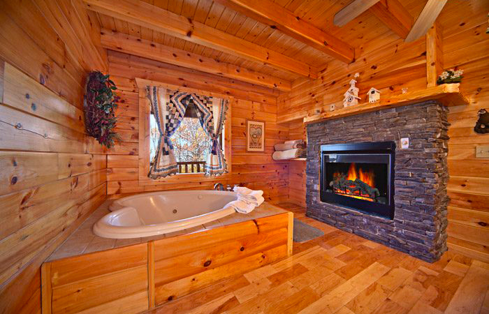 Heart-Shaped Jacuzzi Cabin in Pigeon Forge