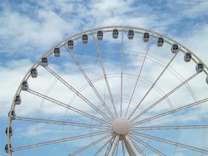 Smoky Mountain Wheel at the Island in Pigeon Forge