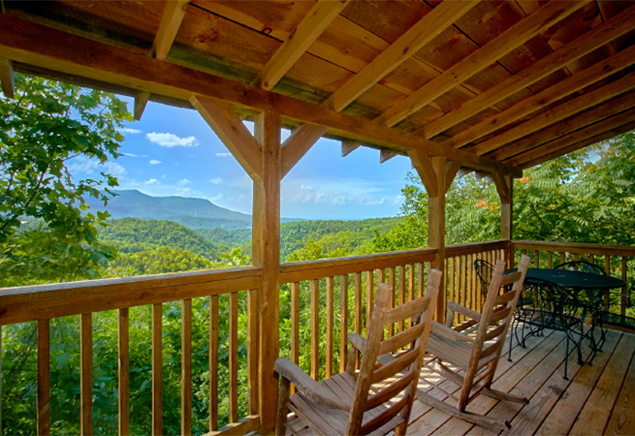 View From Pigeon Forge Cabin's Deck in Summer