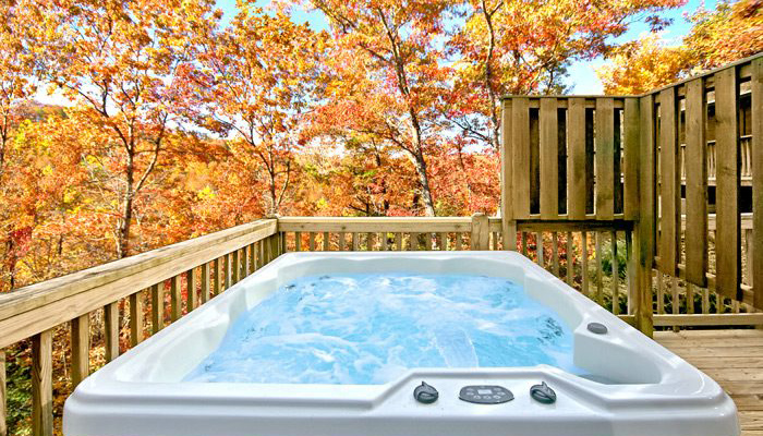 Pigeon Forge Cabin With Hot Tub in November