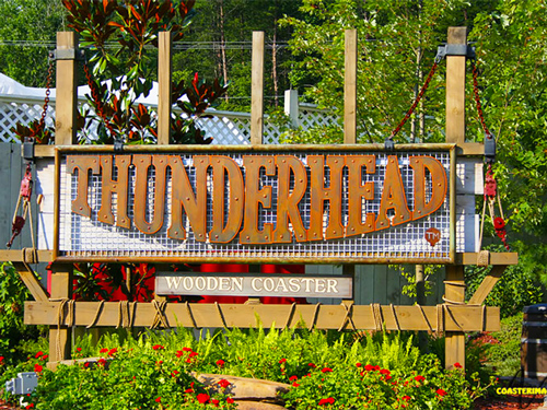 Thunderhead Roller Coaster Sign at Dollywood