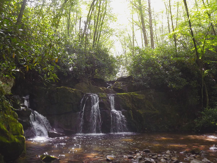 Indian Flatts Waterfall in the Great Smoky Mountains