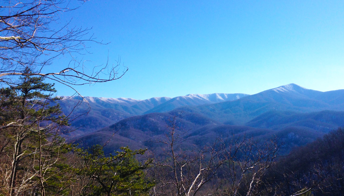Snowy Smoky Mountains in Winter
